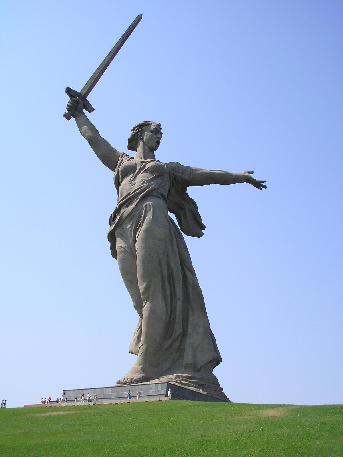 Где находится памятник матери родина